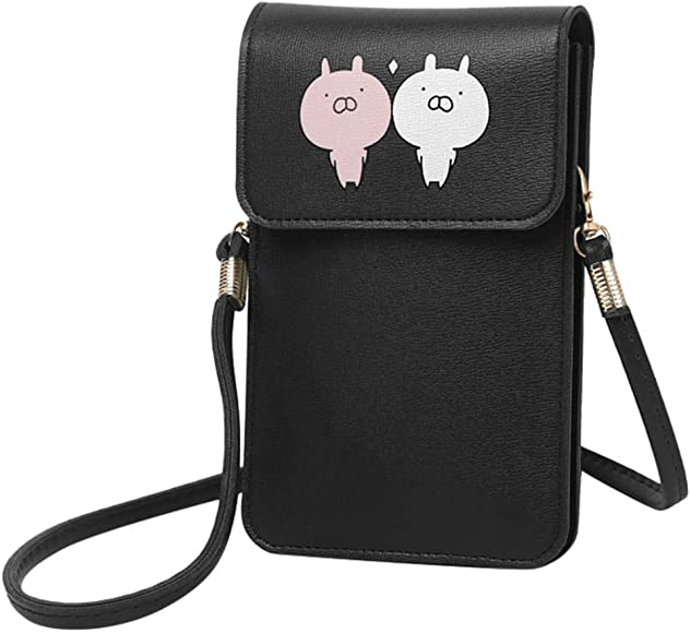 Gofodn 2020 Ladies Transparent Touch Screen Mobile Phone Bag Crossbody Bag for Women Lightweight Mini Shoulder Bags Small