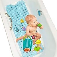 Alfombrilla de Baño, 40 * 100 cm Alfombrilla Antideslizante bañera De Baño, Lavable a máquina,con Orificios de Drenaje…