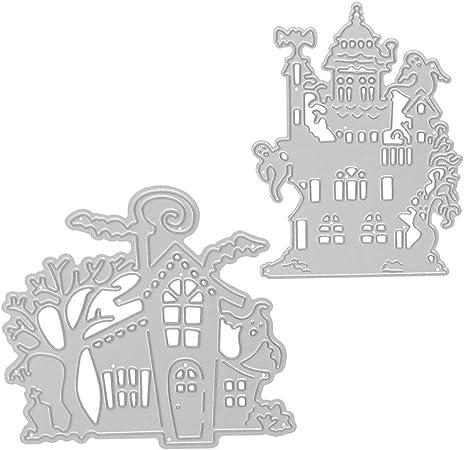 Castle Halloween Metal Cutting Dies Scrapbooking Embossing Paper DIY Cards Gift.