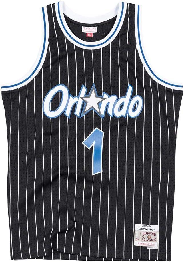 Herren S-XXL LDFN Basketballtrikot Orlando Magic Tracy McGrady Holz Classics Swingman-Ausweichtrikot