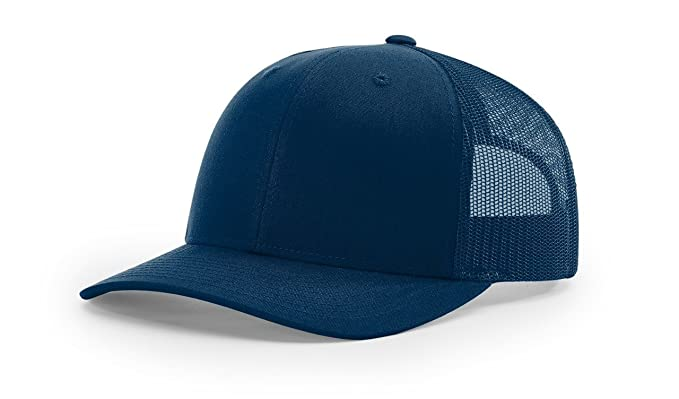 7c847c3dedfbc Richardson Navy 112 Mesh Back Trucker Cap Snapback Hat w THP No Sweat  Headliner