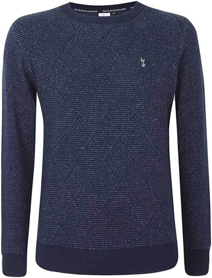 Tottenham Hotspur Mens Diamond Pattern Jumper Knitted