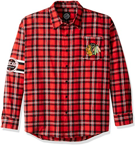 Chicago Blackhawks Wordmark Basic Flannel Shirt Extra Large