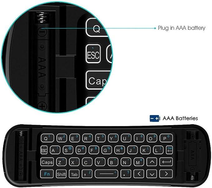 LoveOlvidoF Rii MX6 Mini 2.4Ghz Clavier sans Fil à Double