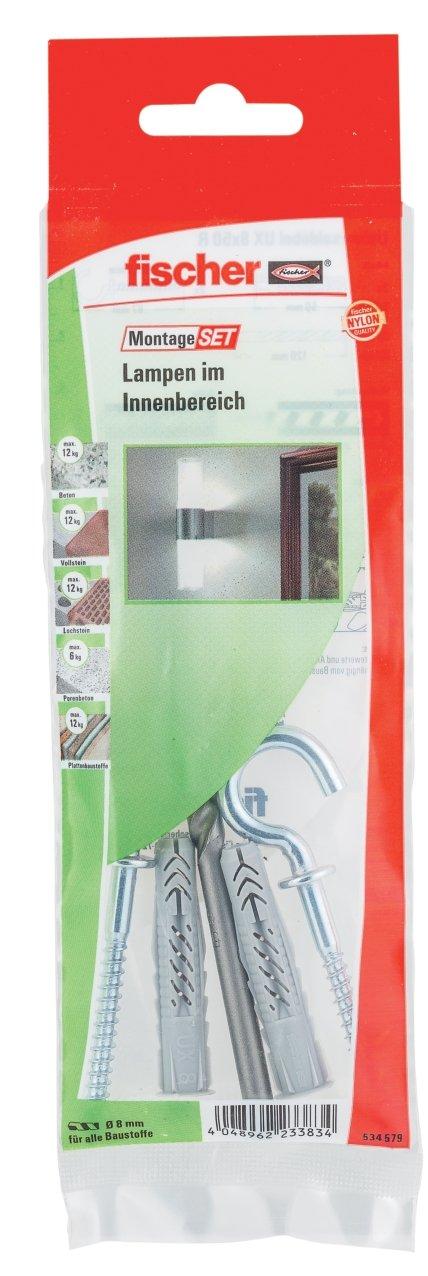 2/x 6/cantos de tornillo 6/x 85 2/x/ /Cubierta 2/x tacos S 8/Rd 80 Fischer Kit de montaje de sujeci/ón de WC B color blanco//cromo 534575
