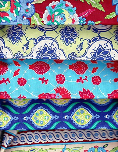 5 yards Iznik Ruby from Snow Leopard Designs Free Spirit 100% Cotton Quilt Fabric (5 Yards Quilt Cotton Fabric)