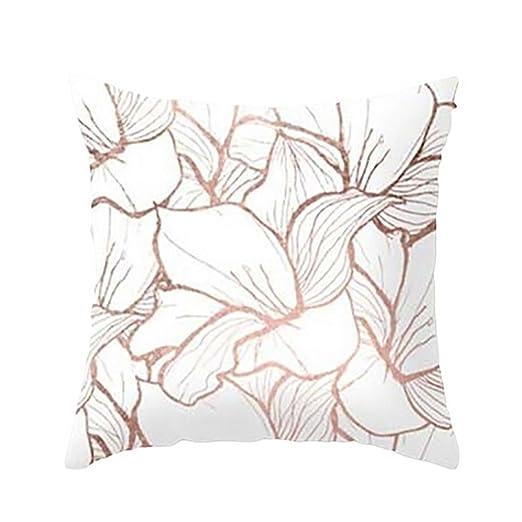 Fundas De Cojines, ❤️Xinantime Funda de almohada geométrica de textura de mármol Fundas de colchón Sofá Decoración (❤️Multicolor B)