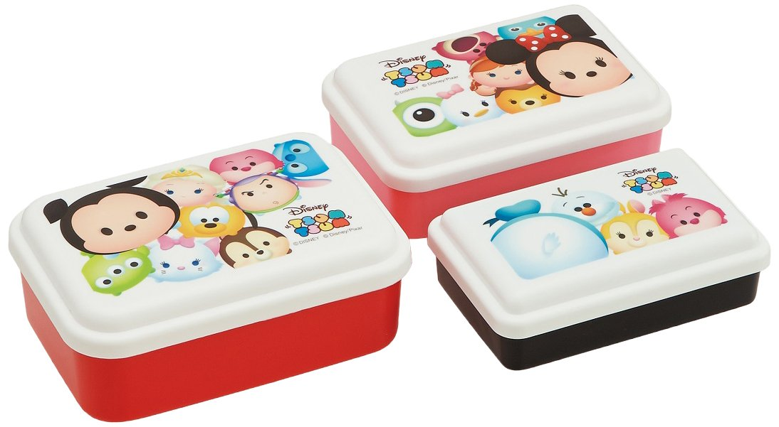 Food container 3P Tsum Tsum lunch box Disney SLUS3 by Skater