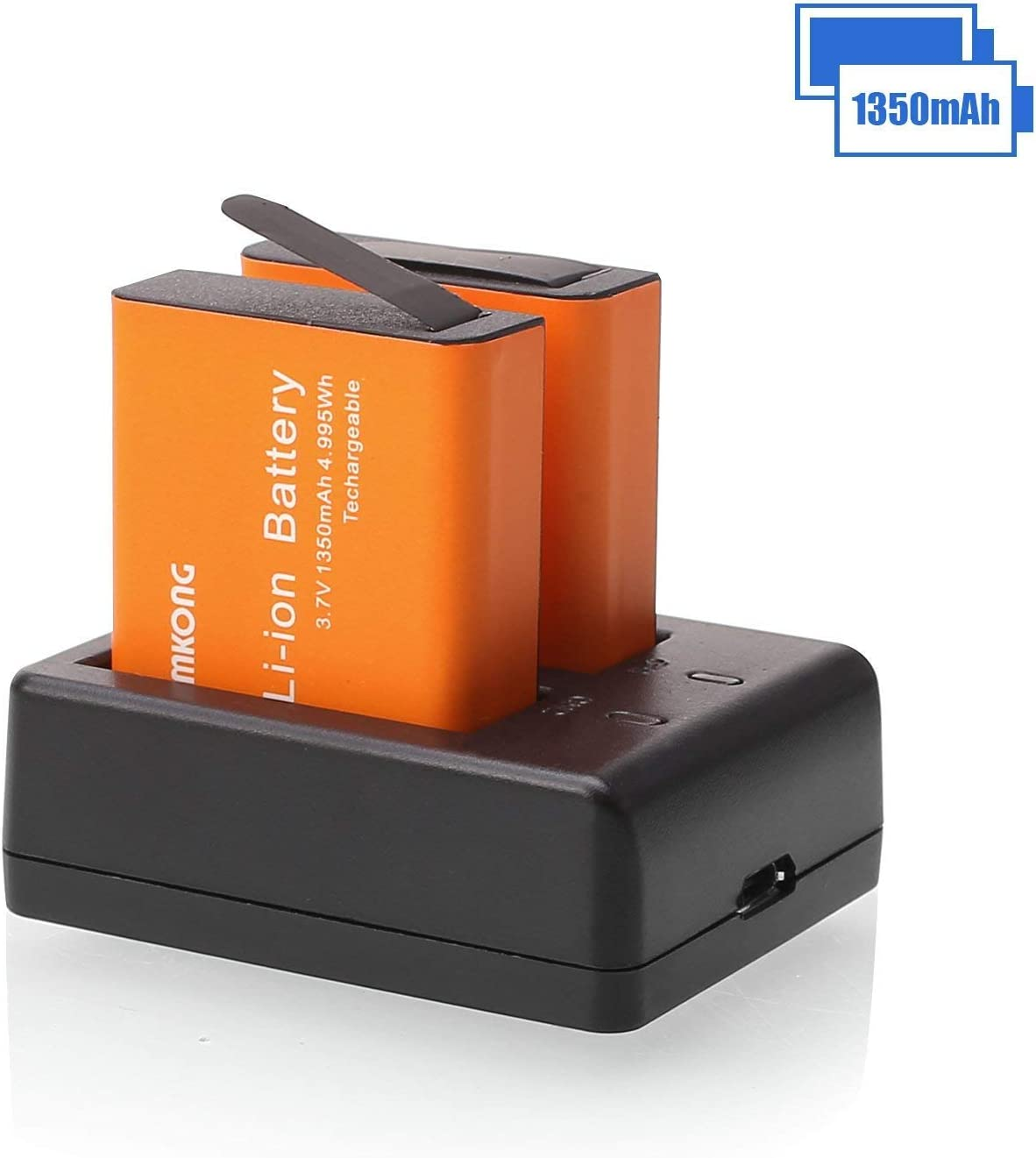 2X1350mAh Action Camera Battery Rechargeable for CAMKONG/AKASO EK7000/ APEMAN/SJCAM SJ4000 SJ5000 SJ6000 SJ7000/ ...