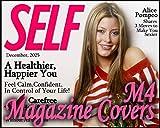 M4 Magazine Covers Senior Fashion Beauty Digital Photo Background Children PSD