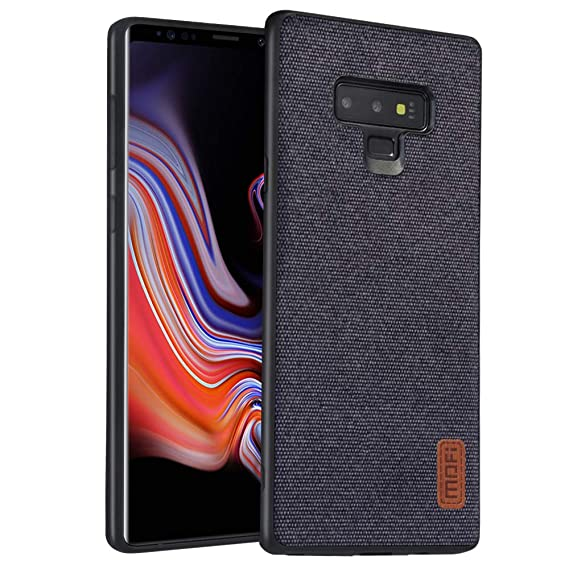 best website 436fe 92ebd Samsung Galaxy Note 9 Case, Anti-Scratch Shock-Absorbing Fabric Business  Men Covers with Silicone Soft Edges and Great Grip, Fully-Protective and ...