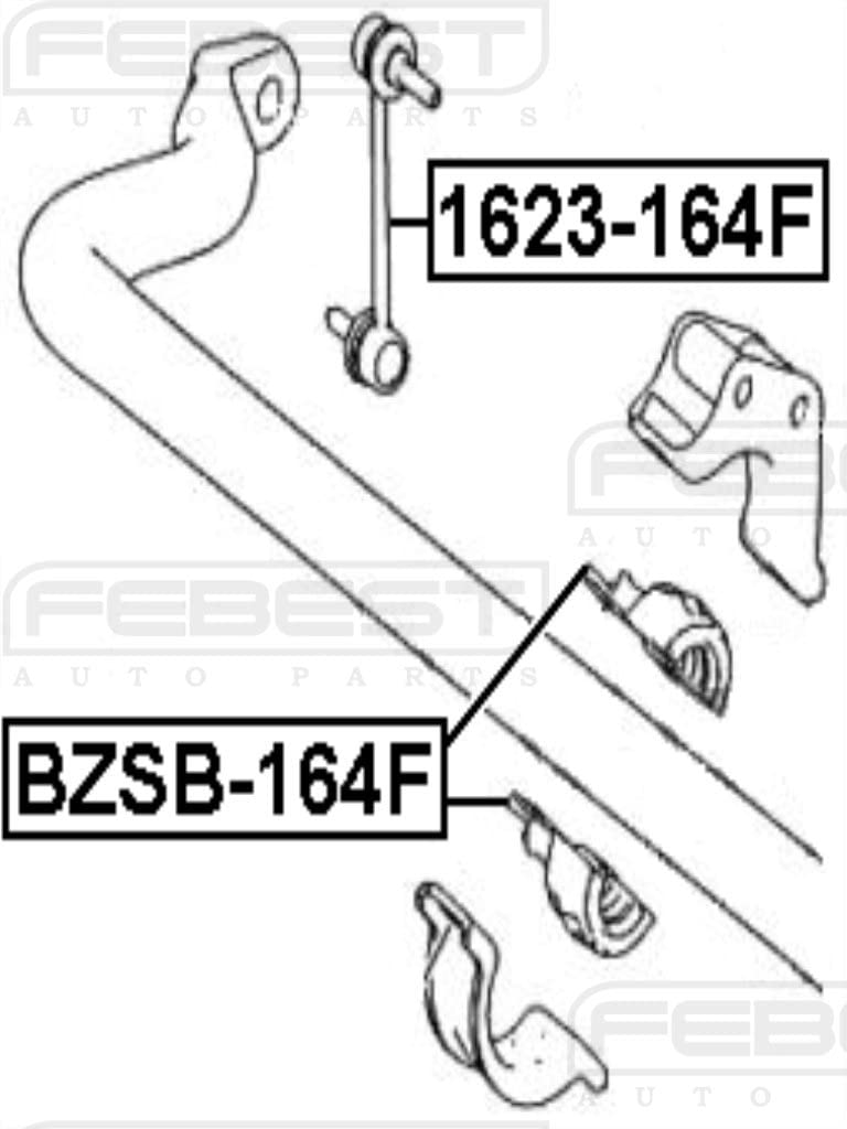 Front Sway Bar Link Stabilizer FEBEST 1623-164F OEM A1643202132