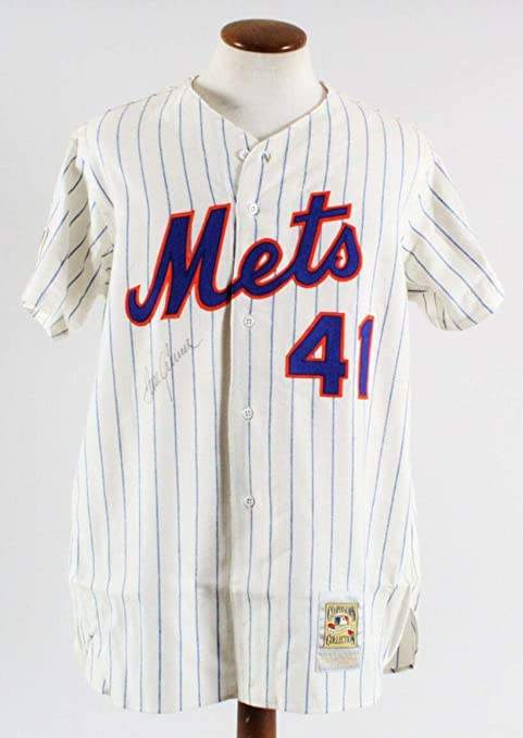 64946b809a8 Image Unavailable. Image not available for. Color  Tom Seaver Signed Jersey  New York Mets - COA - Autographed ...