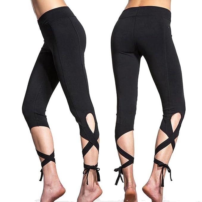 Amazon.com: Niñas vendaje Capris pantalones, leyorie Mujer ...