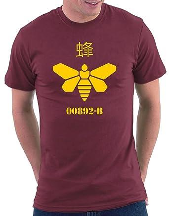Breaking Bad Meth Bee T-shirt, Größe S, Bordeaux