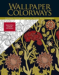 wallpaper colorways coloring patterns inspired by vintage wall coverings - Coloring Book Wallpaper