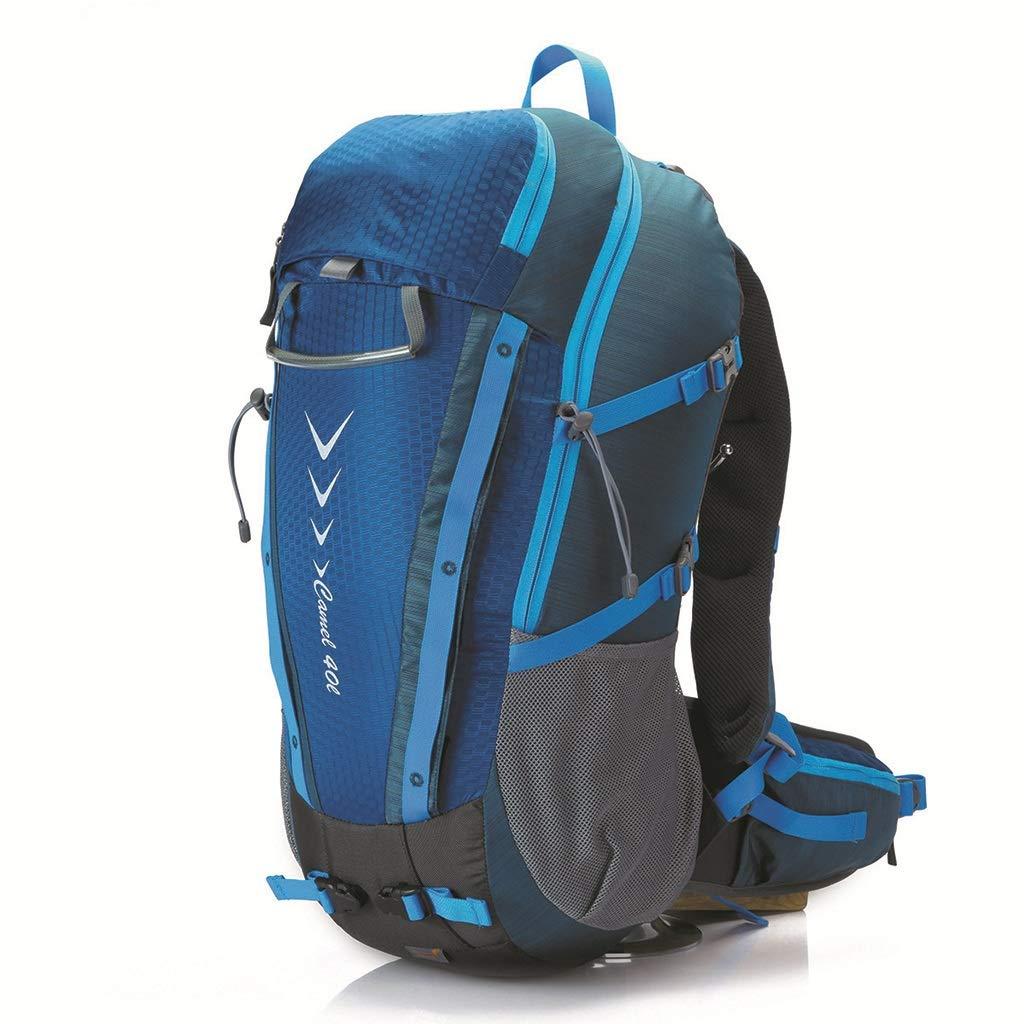 アウトドア登山バッグ40Lスクラッチ耐性ハイキングキャンプハイキングバッグ(青) (色 : 青)  青 B07GZLLQTB