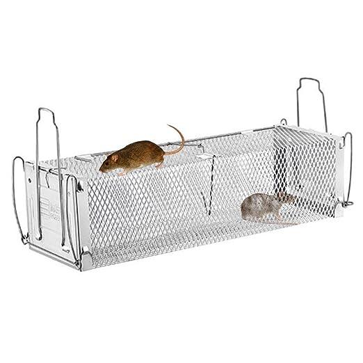 Jaula viva animal de 2 puertas, trampa de la jaula de la rata ...