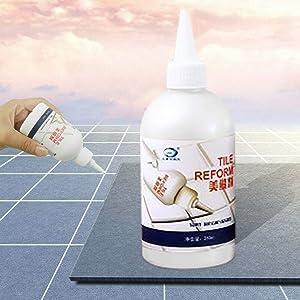 J&HO Home Tile Gap Refill Agent Tile Reform Coating Mold Cleaner Tile Sealer Repair Glue,150ML (3 - White)