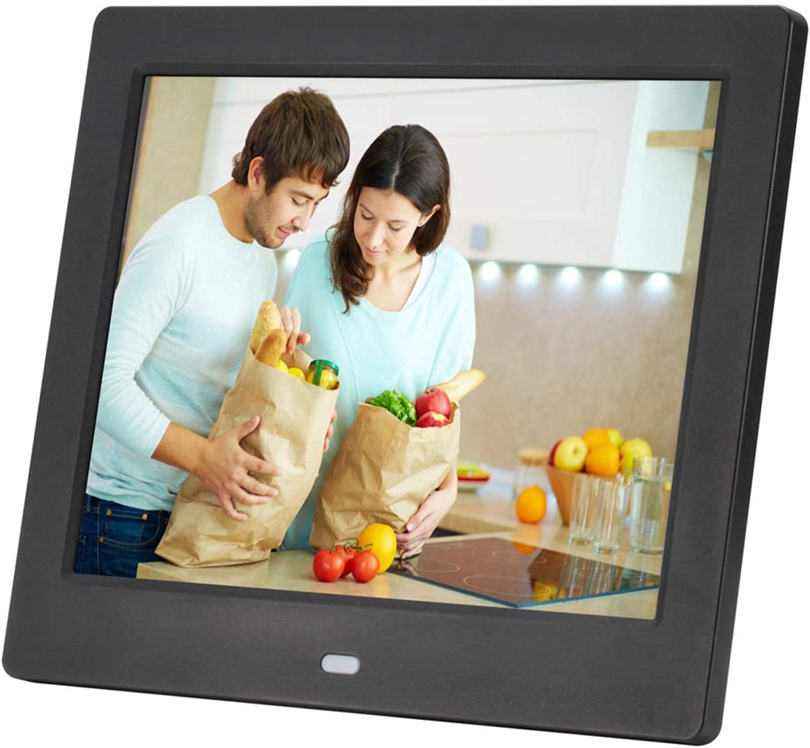ACOWSUN Digital Picture Frame 12 Inch HD 1280X800 Plastic case Can Play Photos Music Videos When Insert Photo Frames USB SD with Remote Control and 4G SD Card Include