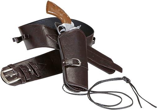 Cowboy Pistole mit Holster Cowboygürtel mit Colt Pistolenhalfter Pistolenholster