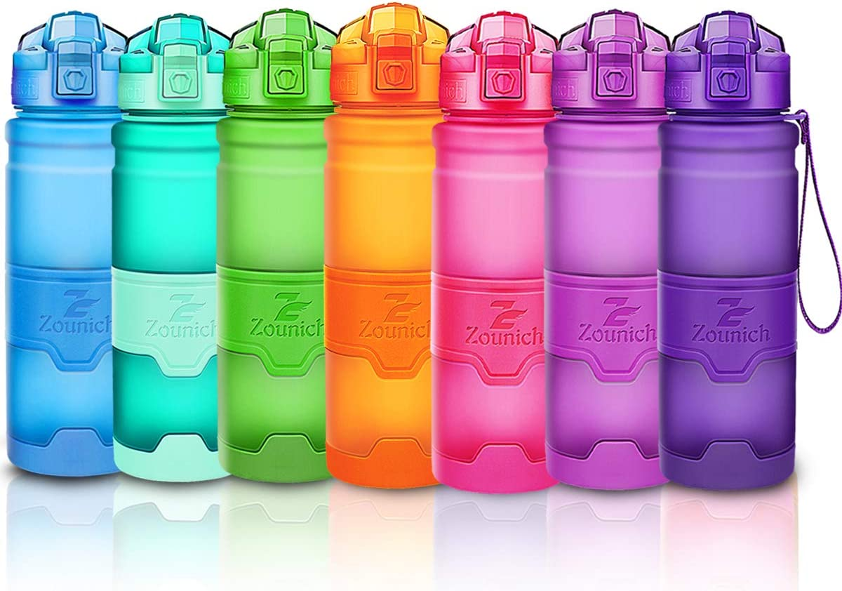 Sports Water Bottle 32oz/1L,24oz,16oz,14oz, Non Toxic BPA Free Eco-Friendly Tritan Reusable Bottle, Leak Proof Kid/Adult Drink Bottle with Filter for Fitness Gym, Lockable Flip Top One Click Open Lid