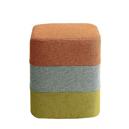 Amazon.com: Taburete tapizado otomano para niños, sofá de ...