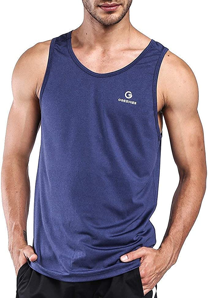 Man Fashion Solid Color Crew Neck Love is Love Fitness Tanks