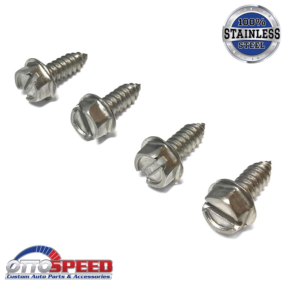 OttoSpeed Stainless License Plate Screws Stainless Steel OE Style Fastener Kit with Nylon Inserts for Fastening License Plates Frames /& Covers