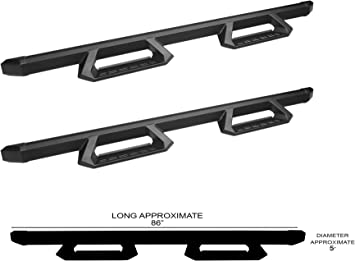 Armordillo USA 8704530 Flare Drop Steps Fits 2007-2018 Chevy Silverado//GMC Sierra 1500 2008-2018 Chevy Silverado//GMC Sierra 2500//3500 Extended Cab