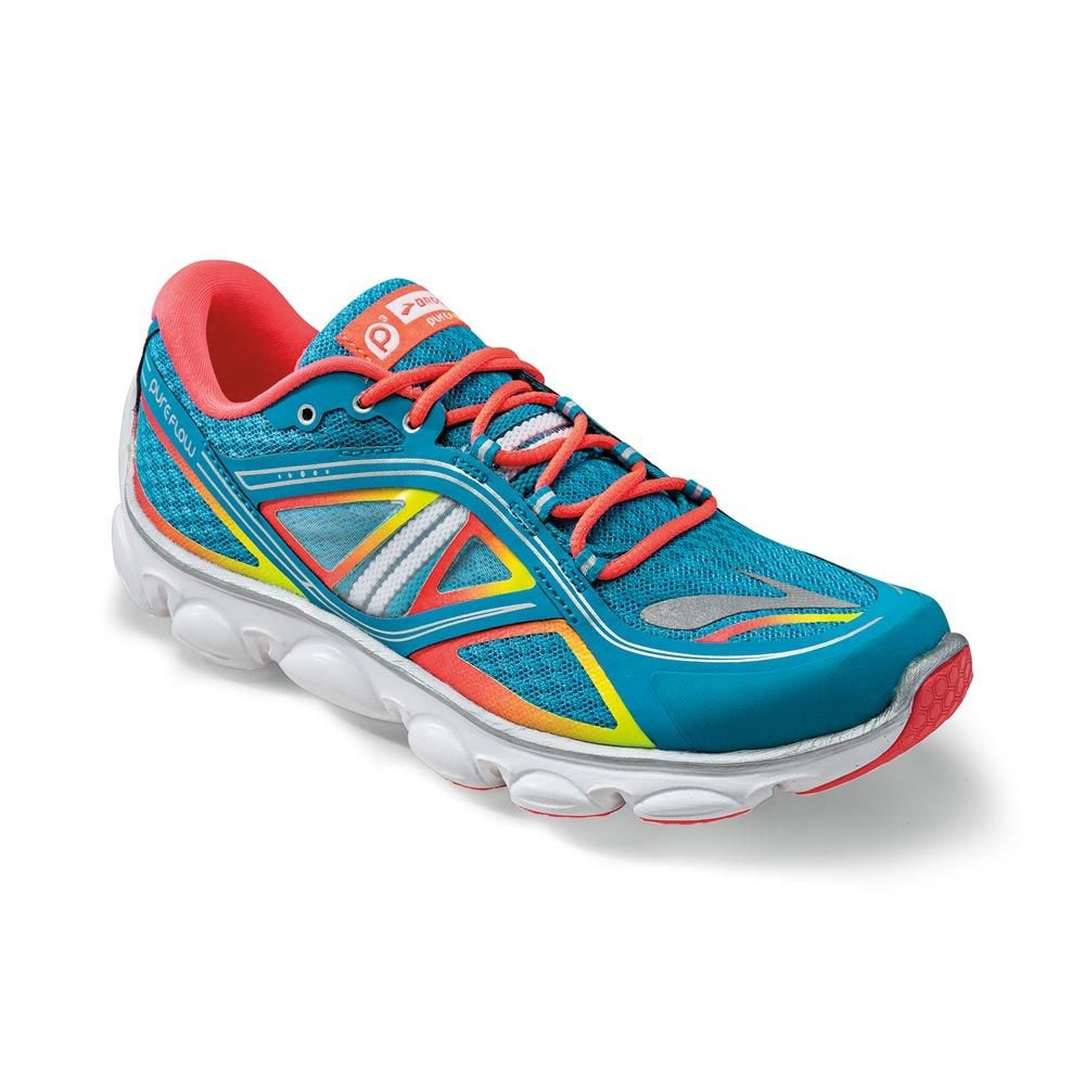9a88ae0be1d Brooks turquoise neon kids running trainers Pureflow 3 grade school   Amazon.co.uk   Shoes   Bags