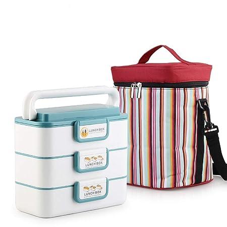3933 Bento Box de Acero Inoxidable Caja de Almuerzo de microondas ...