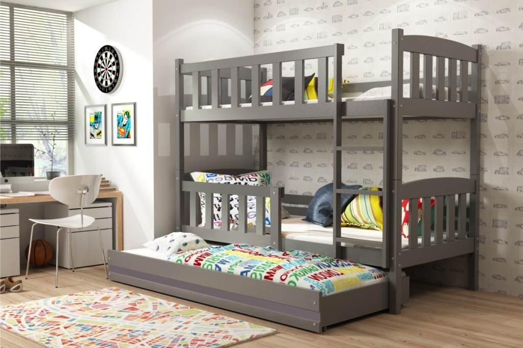 Etagenbett Quba 3 : Interbeds etagenbett quba für drei kinder mit
