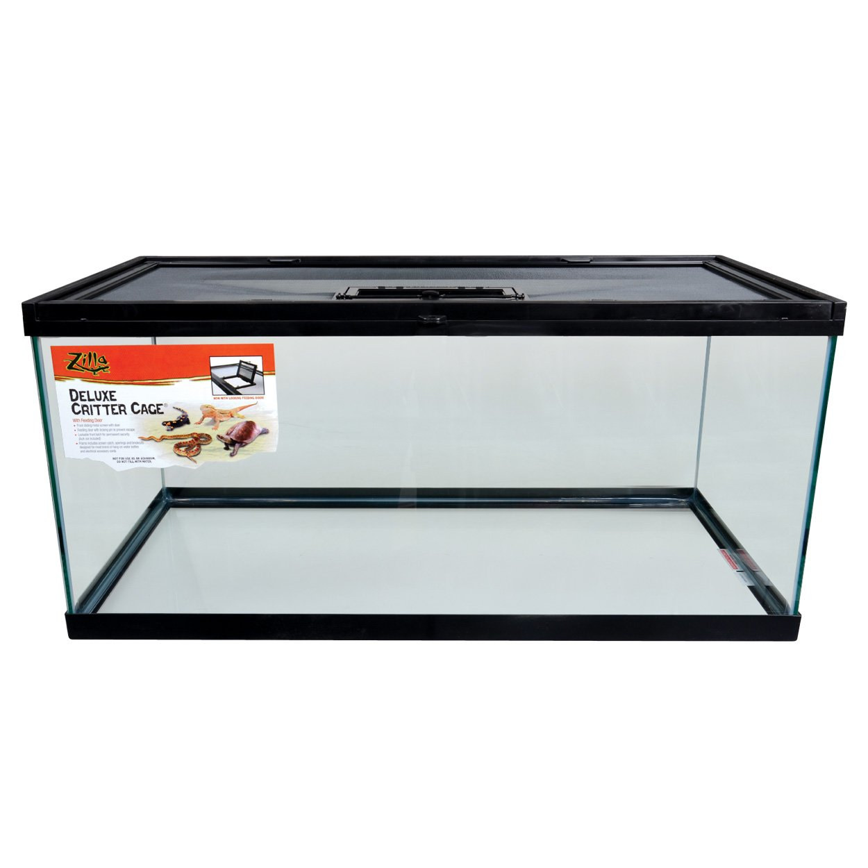 Zilla 13288 Deluxe Critter Cage with Feeding Door, 40 gallon