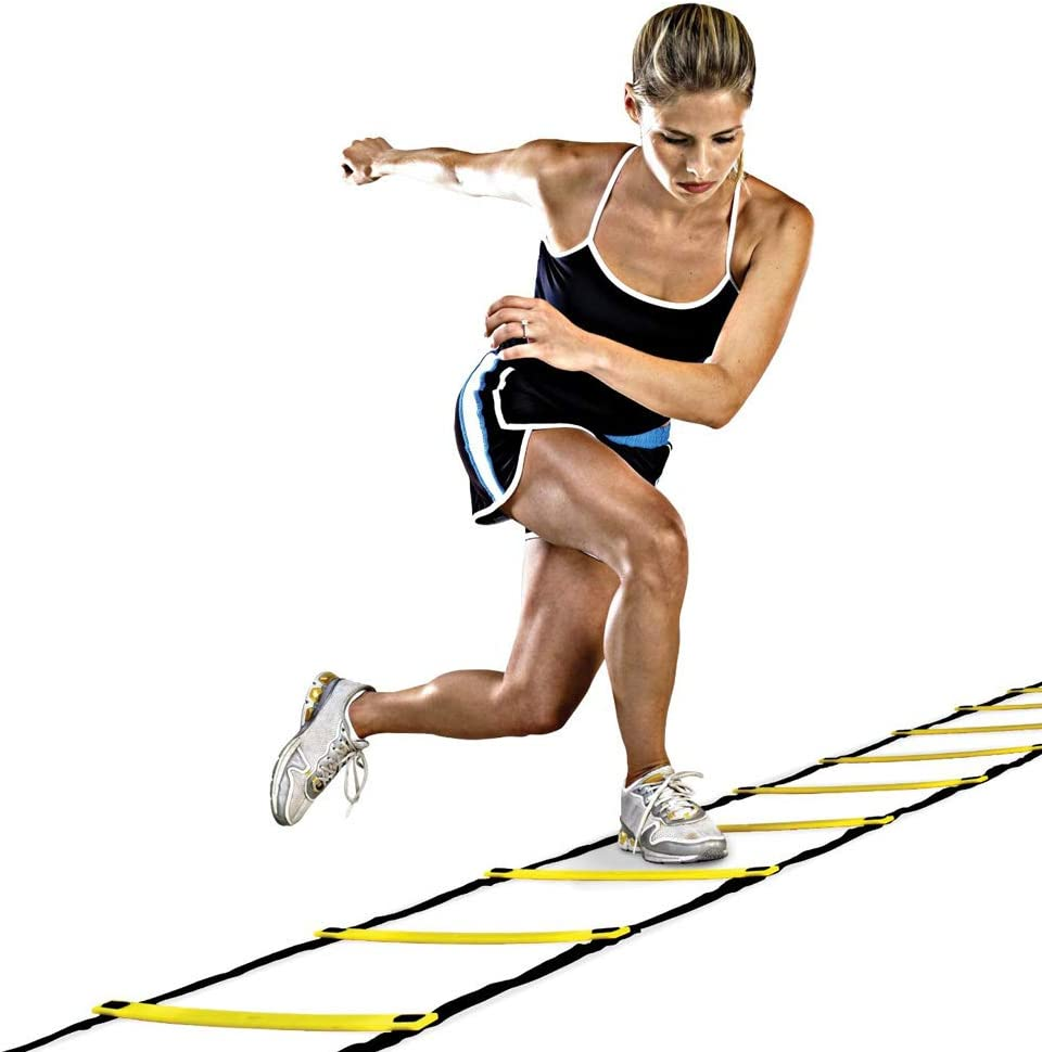 CrazyFire 4 Styles 5//8//10//11 Rung Nylon Straps Training Ladders Agility Speed Ladder Stairs for Soccer and Football Speed Ladder Equipment