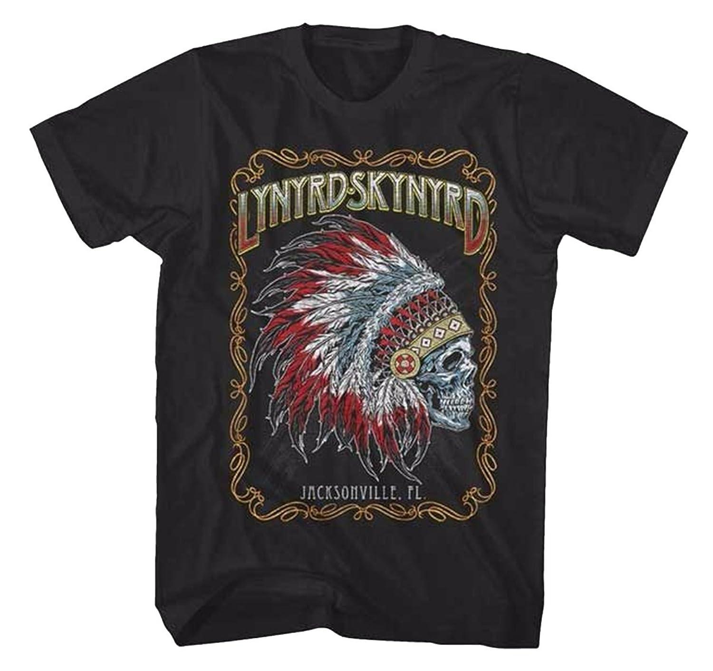Lynyrd Skynyrd Indian Skeleton Mens SS T-shirt