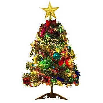 Xmas Deko Weihnachtsbaum.Comtervi 50 Cm Weihnachtsbaum Mit Led Leuchten Tisch Dekoration Xmas Party Ornament Für Home Office Tabletop Shop Fenster Diy Decor