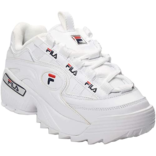 Fila Uomo D-Formation Synthetic Leather White Navy Red Formatori 41 EU
