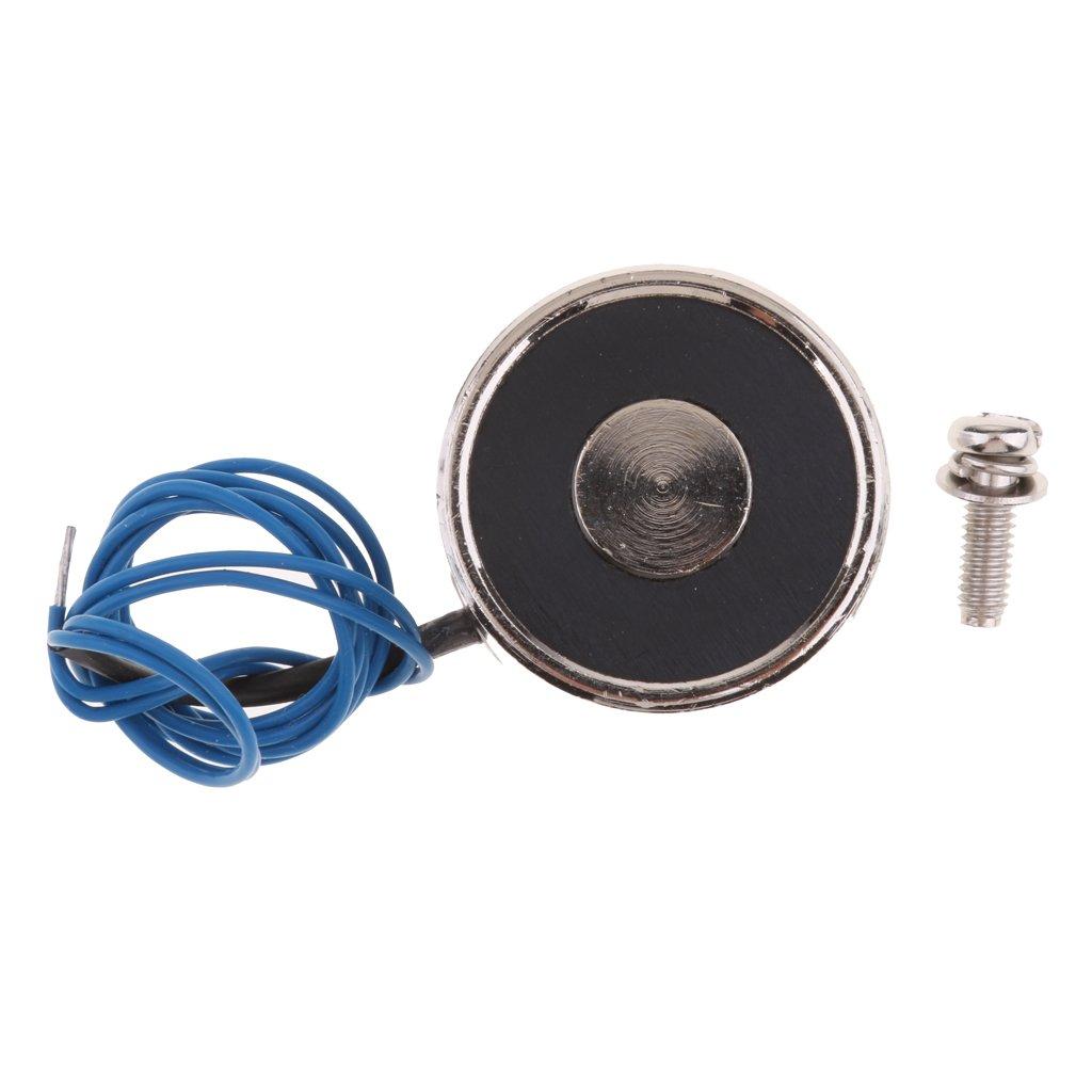 FITYLE Electroimanes Electromagn/éticos de CC Electroimanes de elevaci/ón 5 tipos Im/án el/éctrico de elevaci/ón con bobina DC 12V 800N