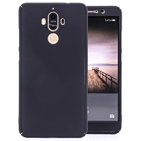COOVY® Funda para Huawei Mate 9 360 Grados, Carcasa Ultrafina y Ligera, con Protector de Pantalla, protección de Cuerpo Completo | Color Negro
