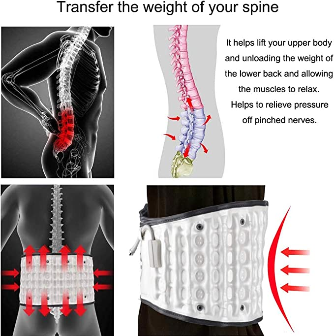 Shenzhen HongJing Technology company limited GM103 Spine Decompression Back Belt /& Lower Back Traction Device with Pressure Gauge HONGJING Lumbar Support Belt for Back Pain Relief