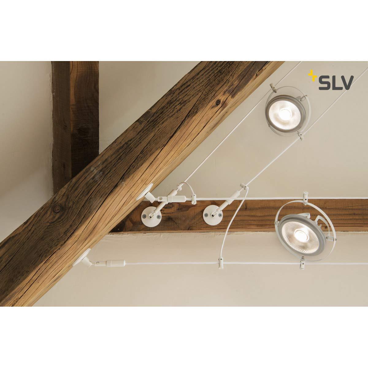 flexibel Stahl//Aluminium Schwarz SLV WANDHALTER Wand//Deckenhalter