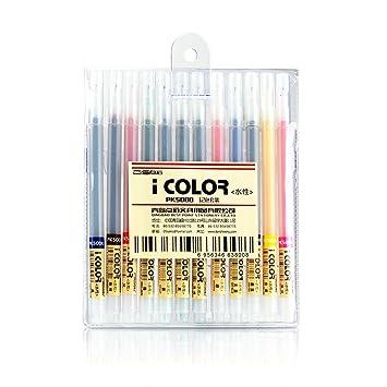 12 Farben Lacke auf Wasserbasis Stift mit der Spitze aus Kunststoff ...
