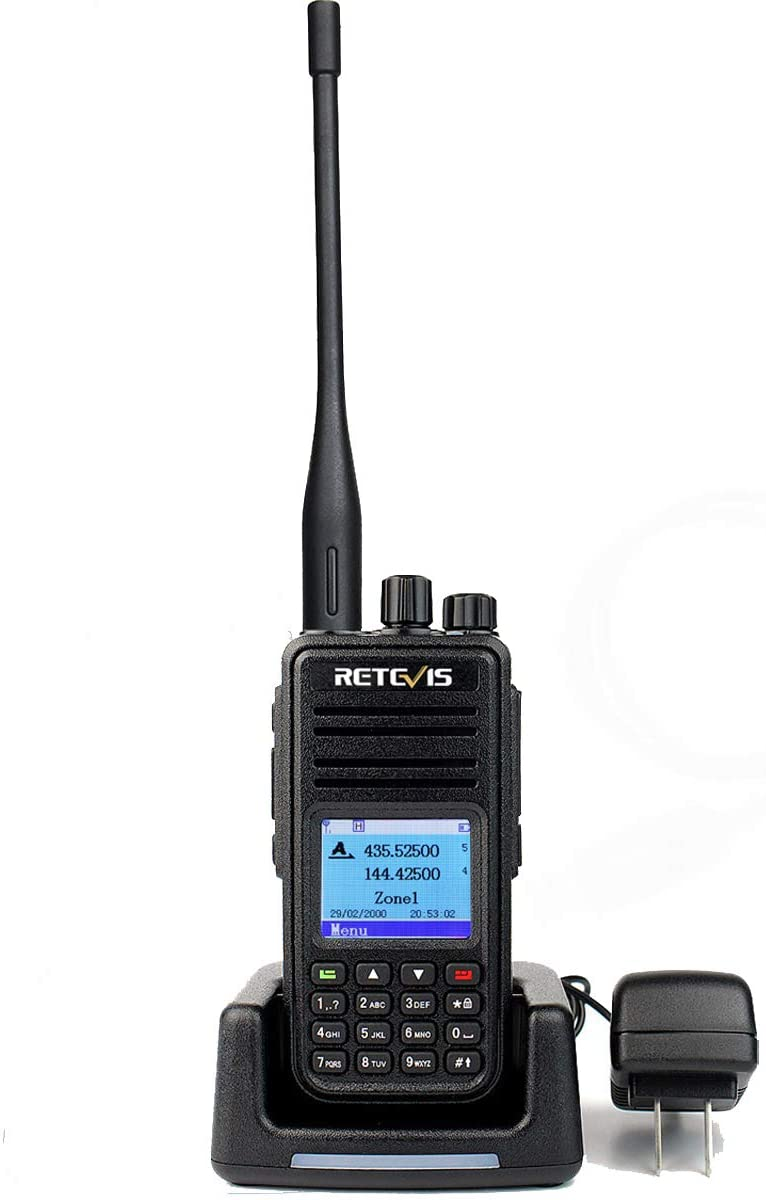 Retevis RT3S Dual Band DMR Radios Dual Time Slot Recording 120000 Contacts Digital Ham Amateur Digital Long Range High Power 1 Pack