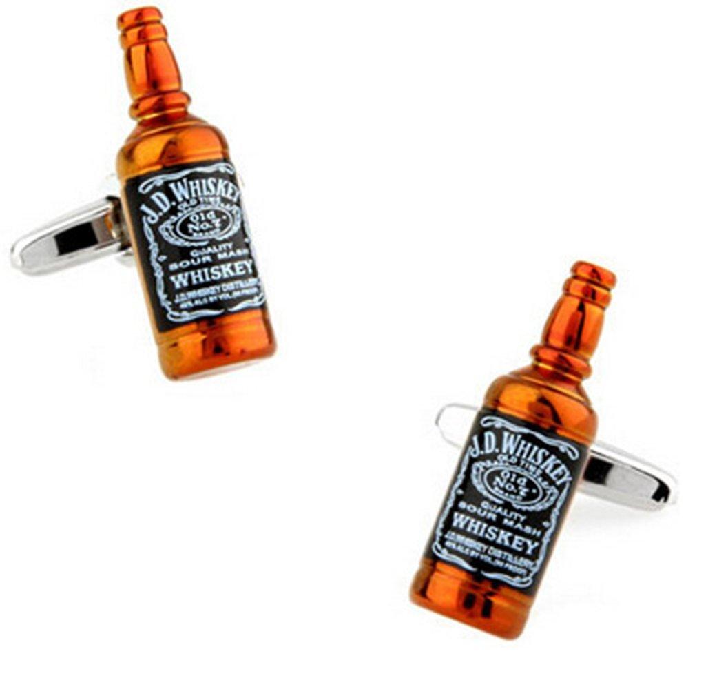 Gudeke Cadeaux Hommes Whisky Bouteille Boutons de manchette
