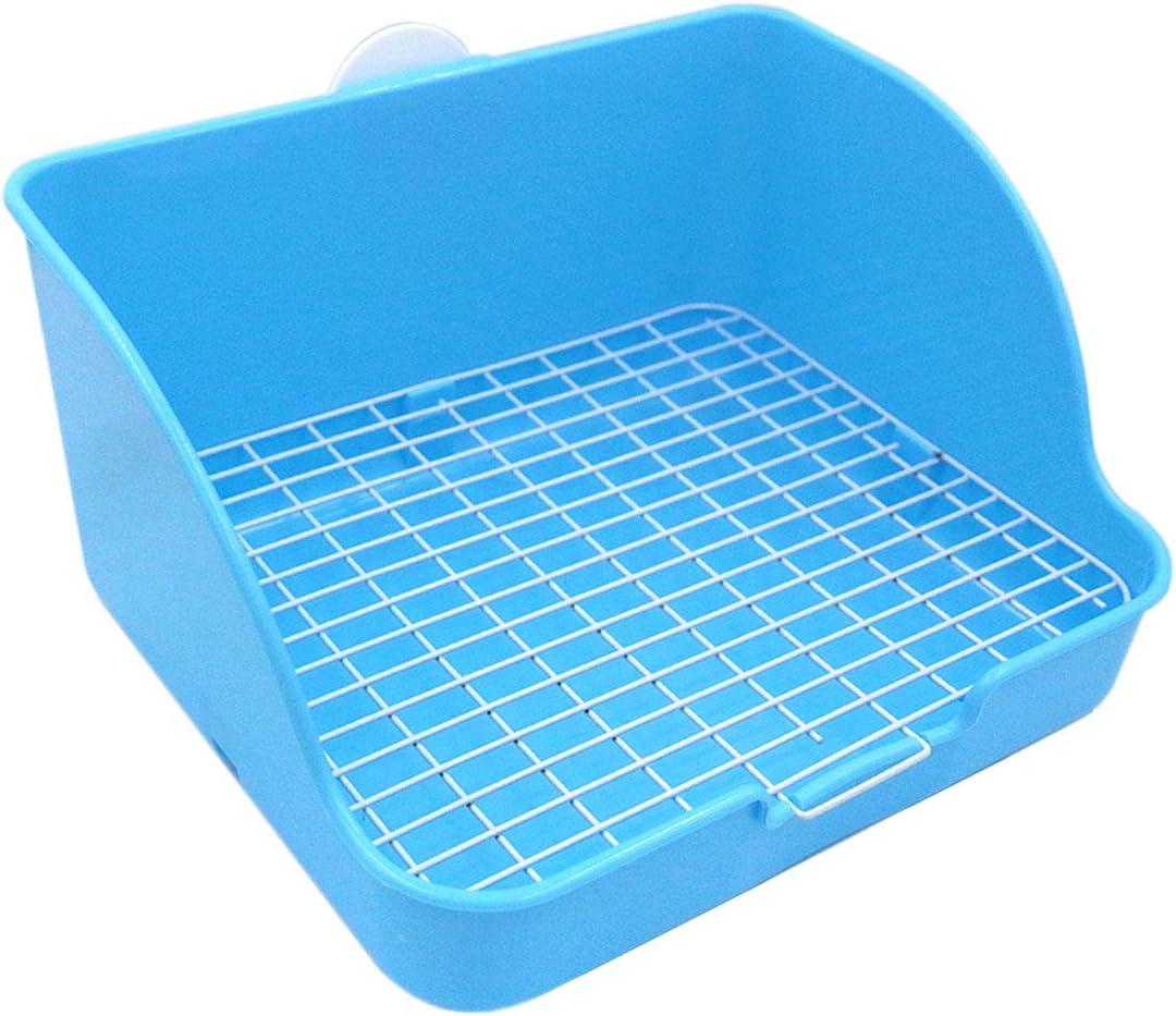 HongYH Pet Small Rat Toilet, Square Potty Entrenador Corner Litter Bedding Box Pet Pan para Small Animal/Rabbit/Conejillo de Indias/galesaur/Huron (Color Aleatorio)
