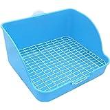 Pet Small Rat Toilet, Square Potty Trainer Corner Litter Bedding Box Pet Pan for Small Animal/Rabbit/Guinea Pig/galesaur…