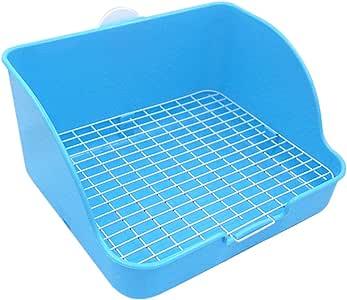 Pet Small Rat Toilet, Square Potty Trainer Corner Litter Bedding Box Pet Pan for Small Animal/Rabbit/Guinea Pig/galesaur/Ferret