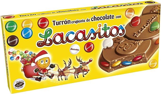Lacasitos Crujiente de Chocolate con Lacasitos Turrón - 200 gr - [Pack de 8]: Amazon.es: Alimentación y bebidas