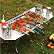 Victor Top® Original Folding Charcoal BBQ Grill Made from Stainless Steel. Portable and Great for Camping, Picnics, Backpacking, Backyards, Survival, Emergency Preparation.